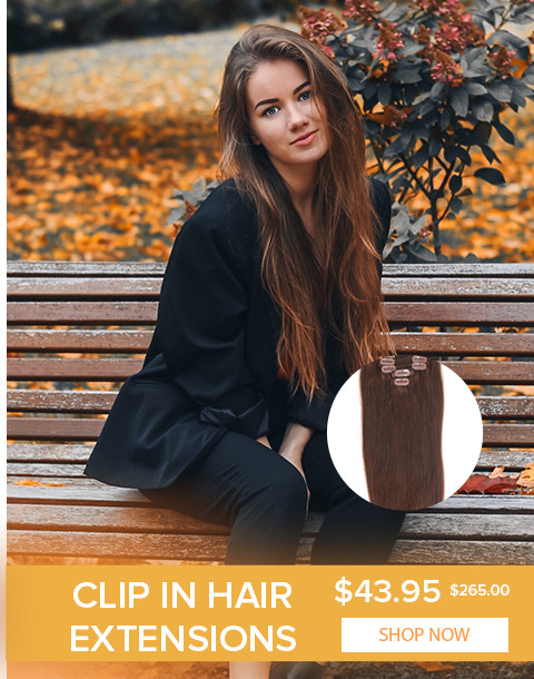 2020 Autumn hair extensions clip in
