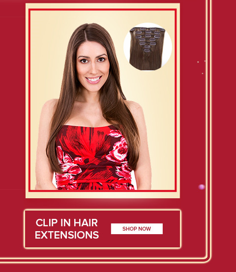 2020 New Year hair extensions clip in