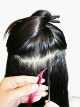 How to Apply Micro Loop Hair Extensions,Step Two