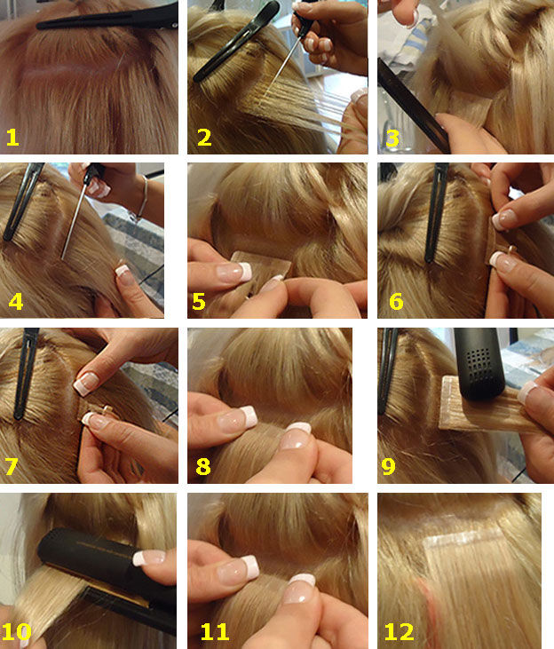 How to Apply Tape In Hair Extensions