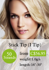 50 stands stick tips hair extensions